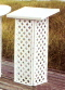 Where to rent GUEST BOOK STAND, WHITE, LATTICE in Wautoma WI