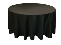 Where to rent TABLECLOTH, 90 , ROUND, BLACK in Wautoma WI