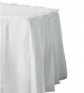Where to rent TABLE SKIRT, 14 X24 , WHITE in Wautoma WI