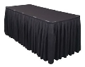 Where to rent TABLE SKIRT, 12 X24 , BLACK in Wautoma WI